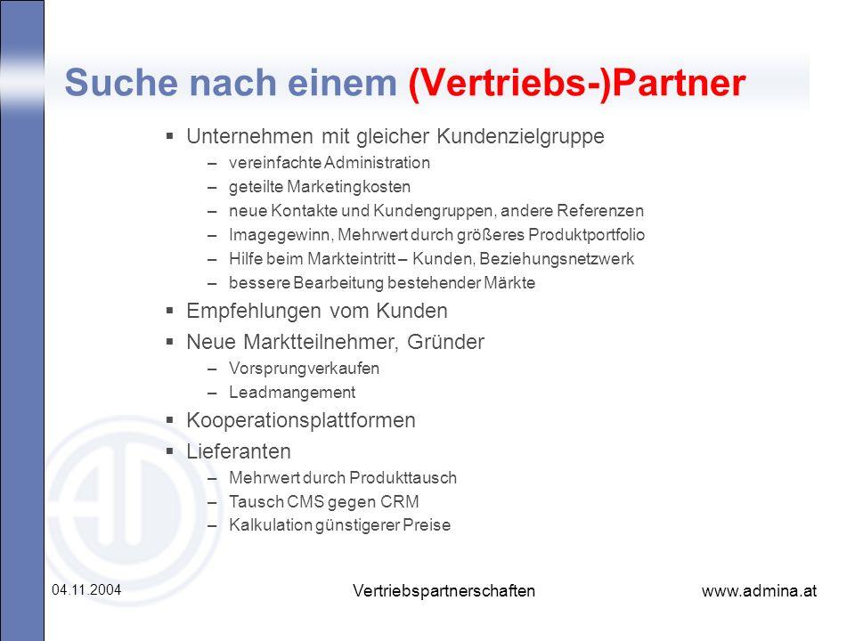 Suche nach einem (Vertriebs-)Partner