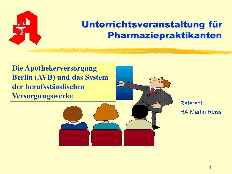 Unterrichtsveranstaltung für Pharmaziepraktikanten