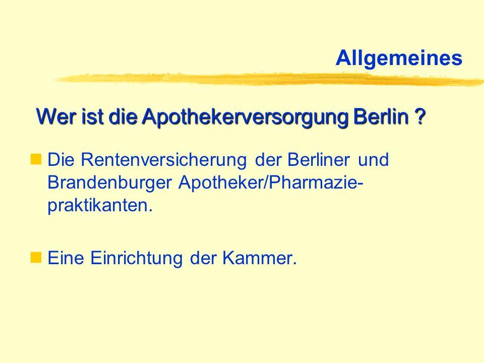Wer ist die Apothekerversorgung Berlin