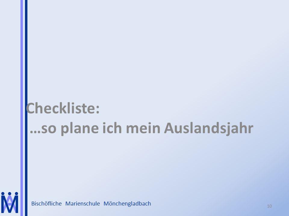 Checkliste: …so plane ich mein Auslandsjahr