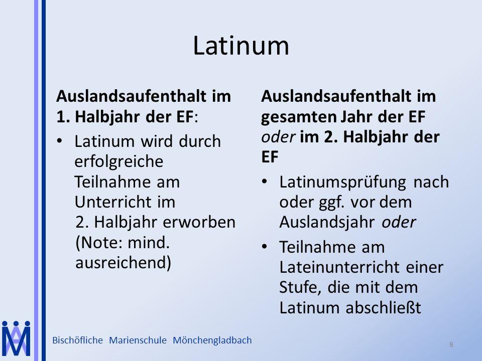 Latinum Auslandsaufenthalt im 1. Halbjahr der EF:
