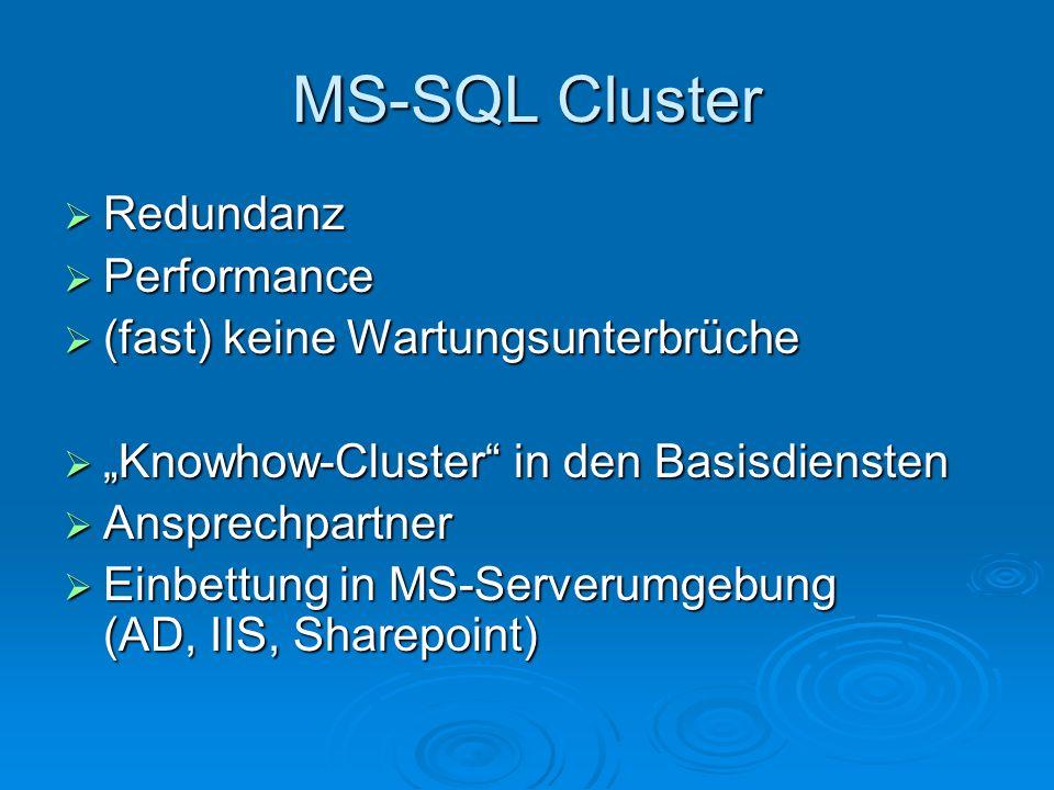 MS-SQL Cluster Redundanz Performance (fast) keine Wartungsunterbrüche