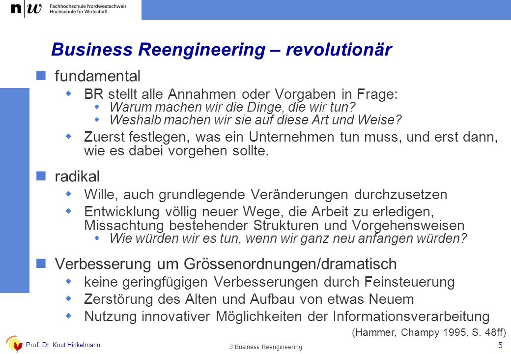 Business Reengineering – revolutionär