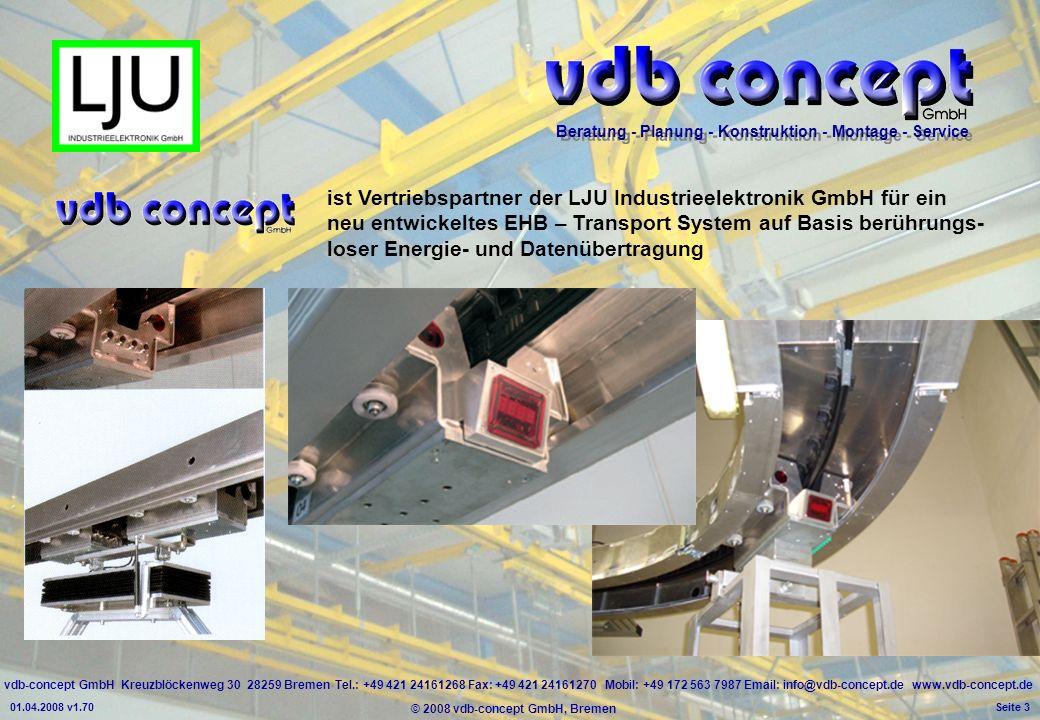 ist Vertriebspartner der LJU Industrieelektronik GmbH für ein neu entwickeltes EHB – Transport System auf Basis berührungs- loser Energie- und Datenübertragung