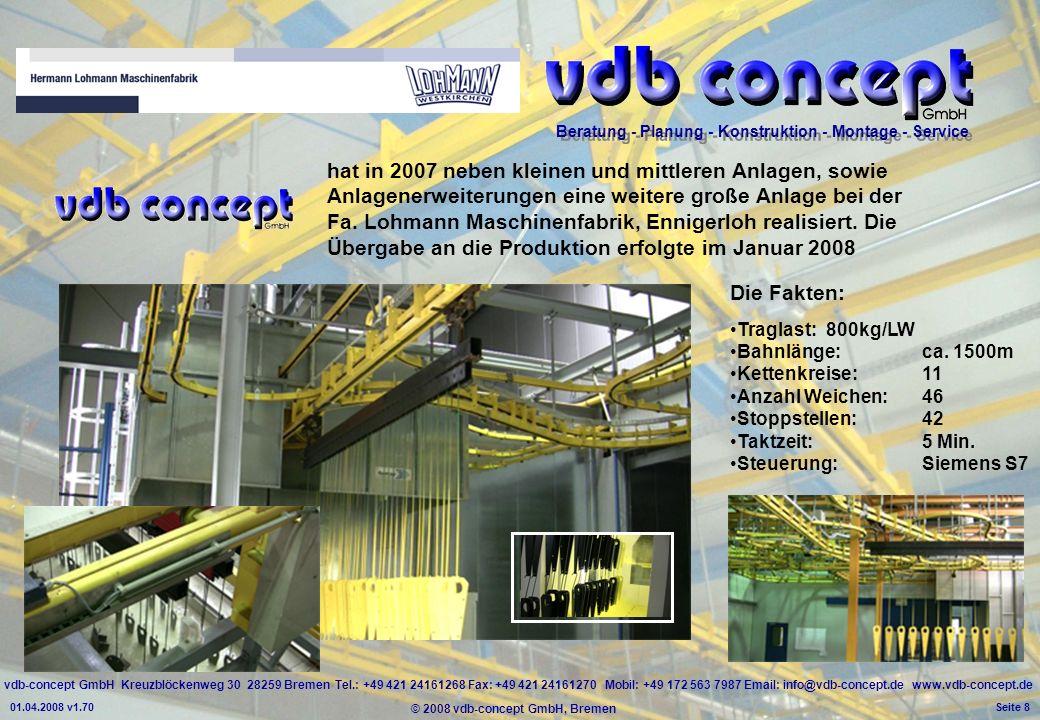 hat in 2007 neben kleinen und mittleren Anlagen, sowie Anlagenerweiterungen eine weitere große Anlage bei der