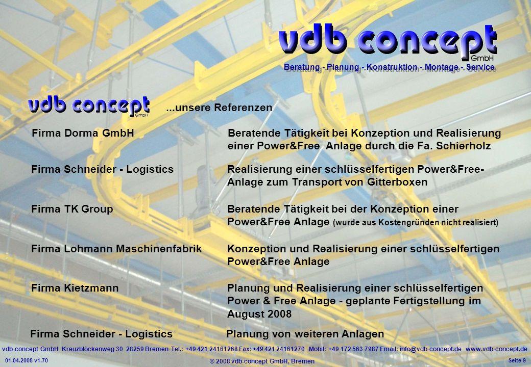 Firma Schneider - Logistics Planung von weiteren Anlagen