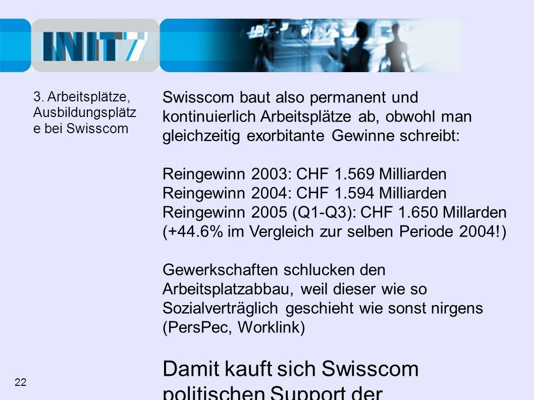 Damit kauft sich Swisscom politischen Support der Gewerkschaften!