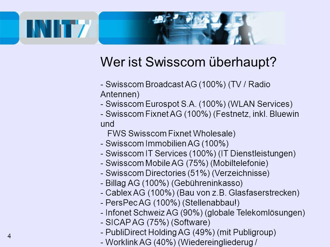 Wer ist Swisscom überhaupt