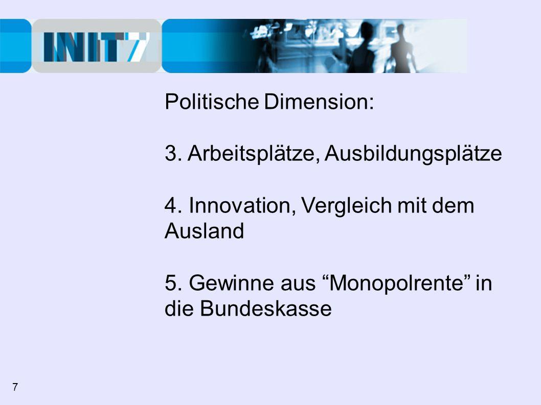 Politische Dimension: 3. Arbeitsplätze, Ausbildungsplätze