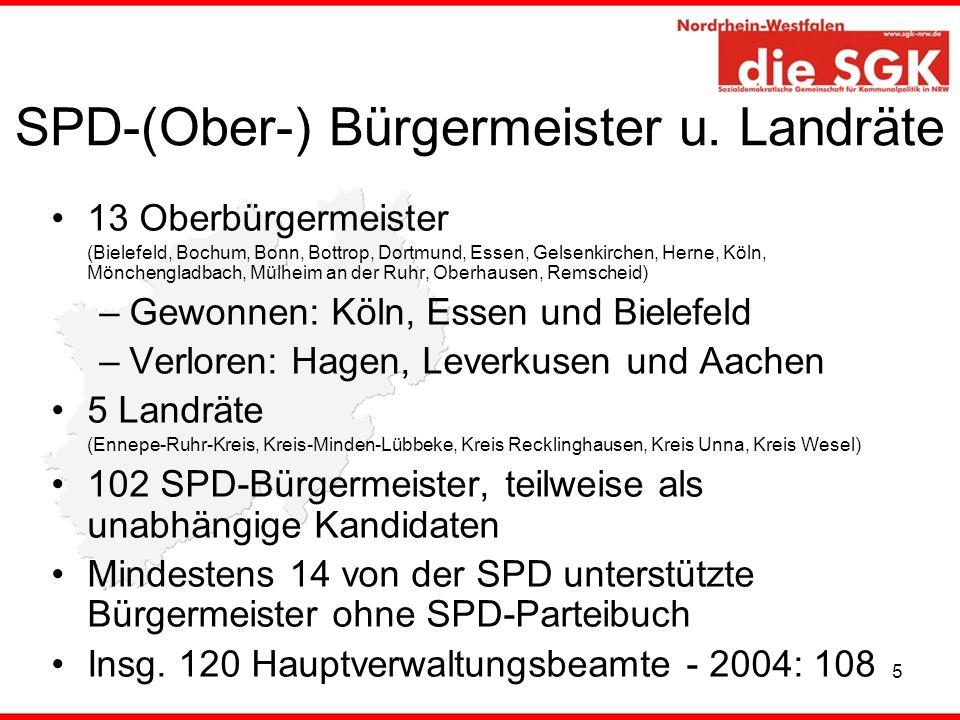 SPD-(Ober-) Bürgermeister u. Landräte
