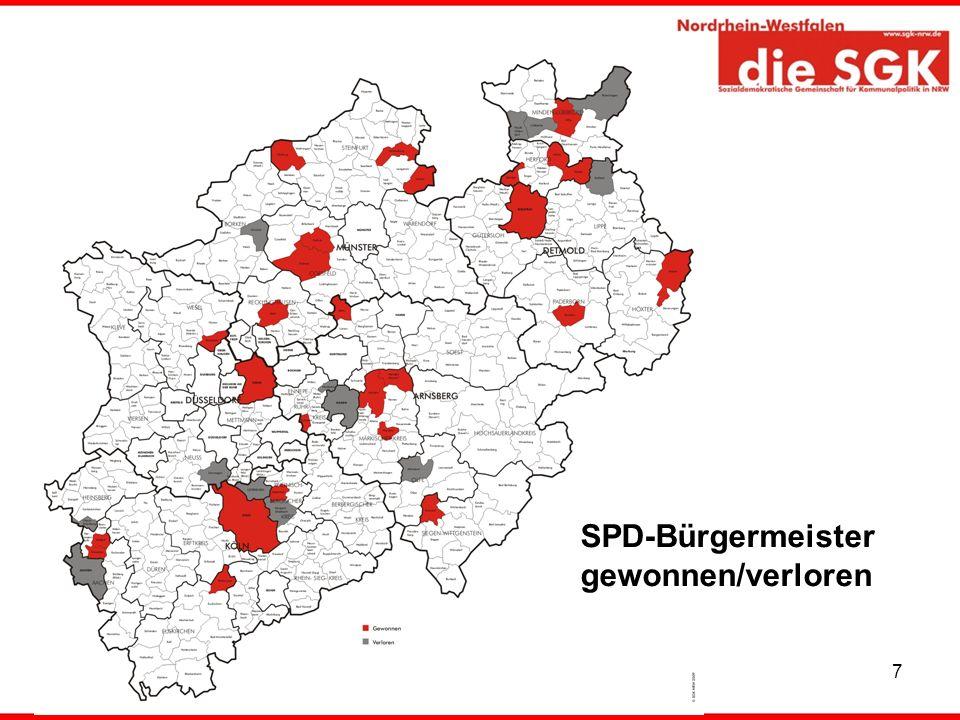 SPD-Bürgermeister gewonnen/verloren