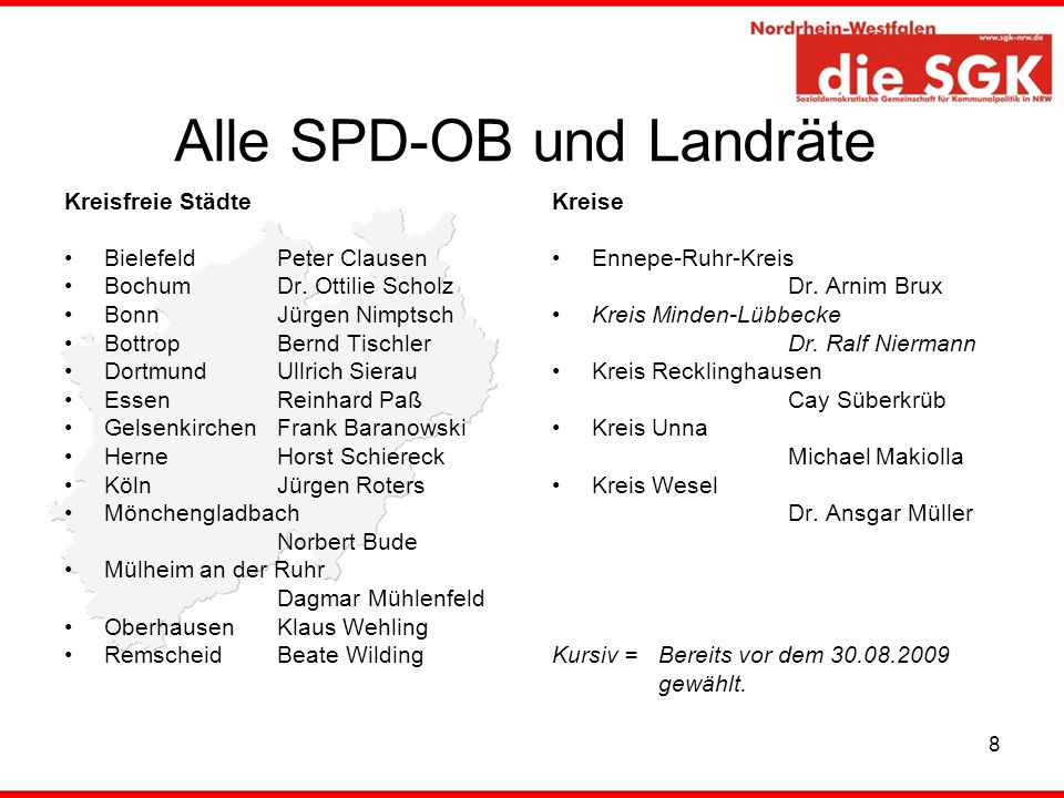 Alle SPD-OB und Landräte