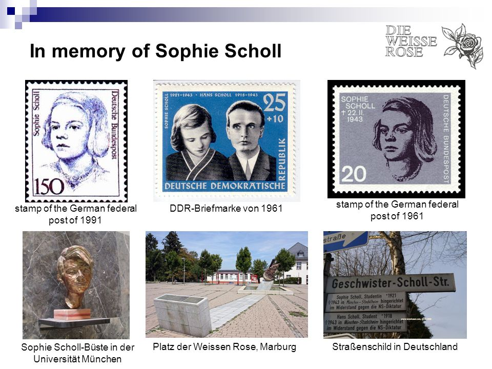 In memory of Sophie Scholl