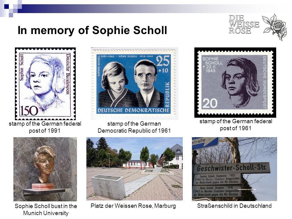 In memory of Sophie Scholl