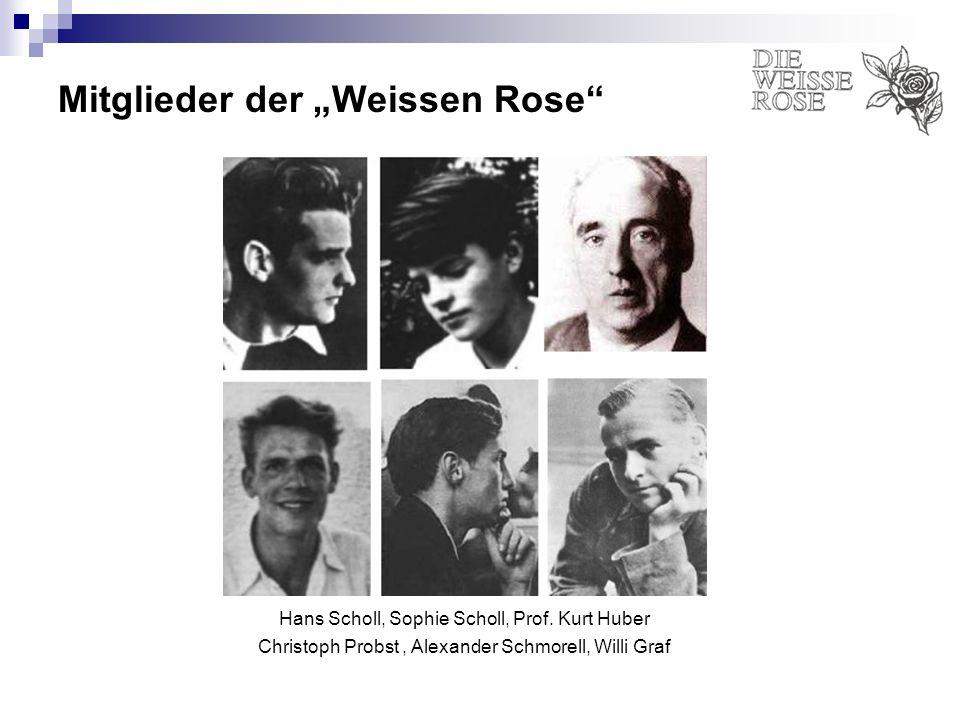 """Mitglieder der """"Weissen Rose"""