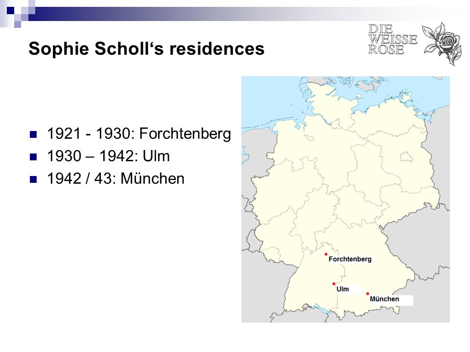 Sophie Scholl's residences