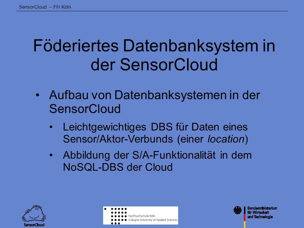Föderiertes Datenbanksystem in der SensorCloud