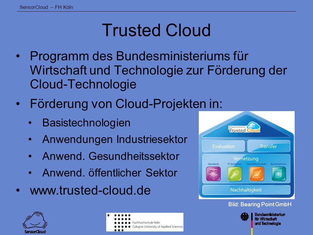 Trusted Cloud Programm des Bundesministeriums für Wirtschaft und Technologie zur Förderung der Cloud-Technologie.