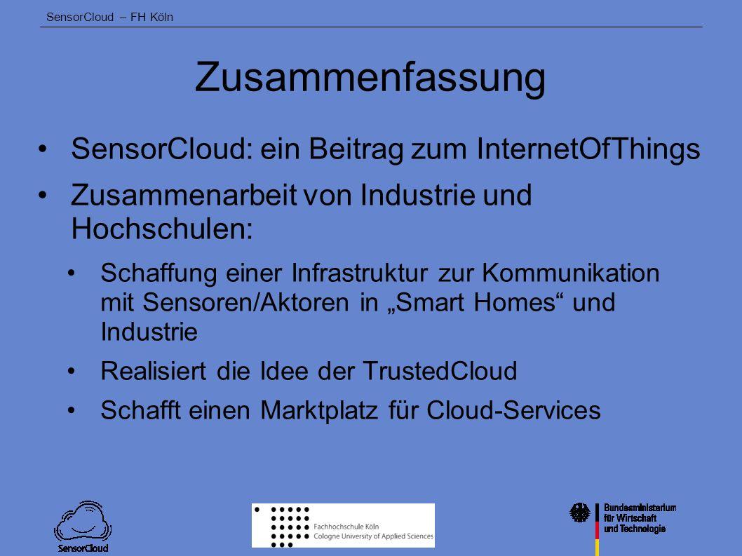 Zusammenfassung SensorCloud: ein Beitrag zum InternetOfThings