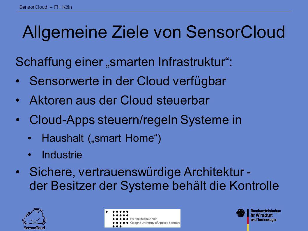 Allgemeine Ziele von SensorCloud