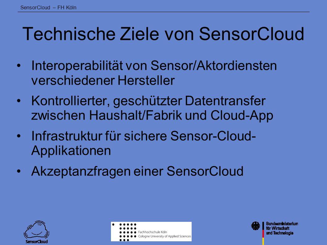 Technische Ziele von SensorCloud
