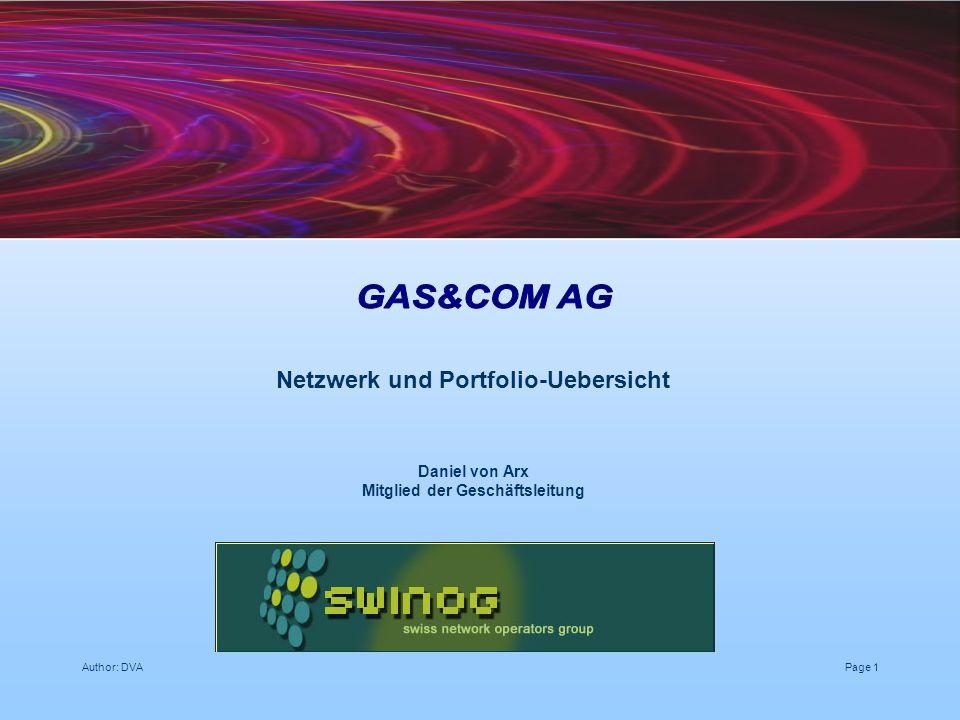 Netzwerk und Portfolio-Uebersicht Mitglied der Geschäftsleitung