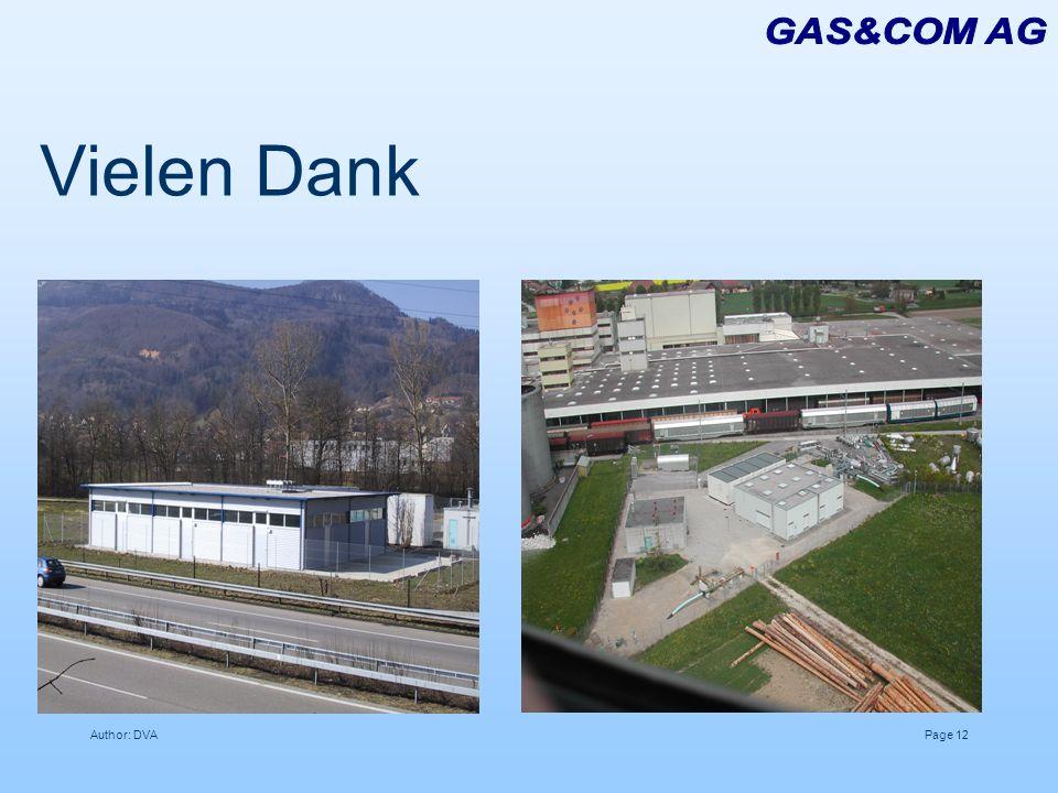 GAS&COM AG Vielen Dank Author: DVA