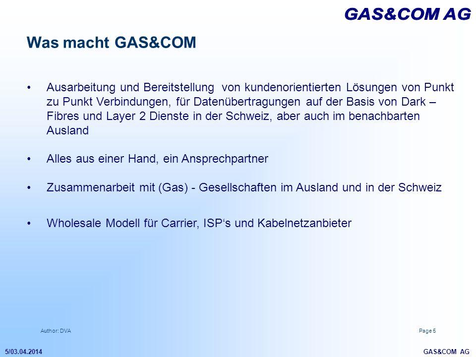 GAS&COM AG Was macht GAS&COM