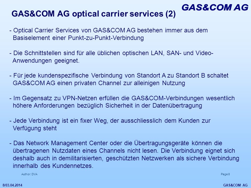 GAS&COM AG GAS&COM AG optical carrier services (2)
