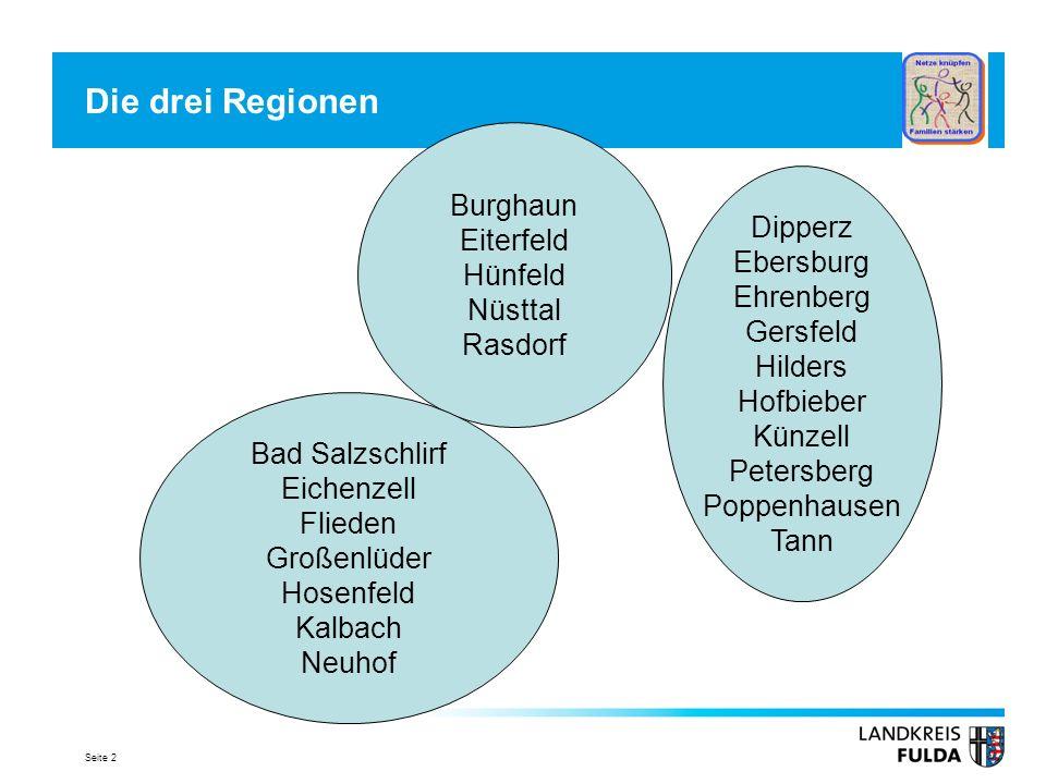 Die drei Regionen Burghaun Eiterfeld Hünfeld Dipperz Nüsttal Ebersburg