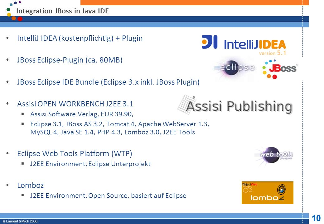 Integration JBoss in Java IDE