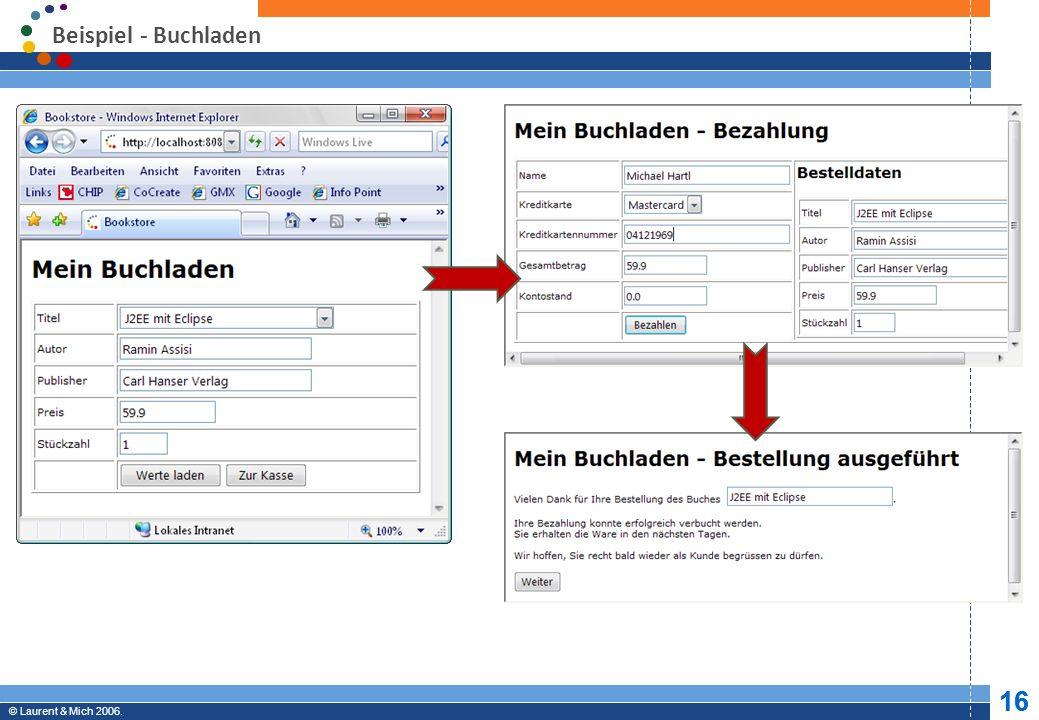 Beispiel - Buchladen Keine JBoss spezifischen Tags im eigenen Source-Code enthalten. JBoss starten.