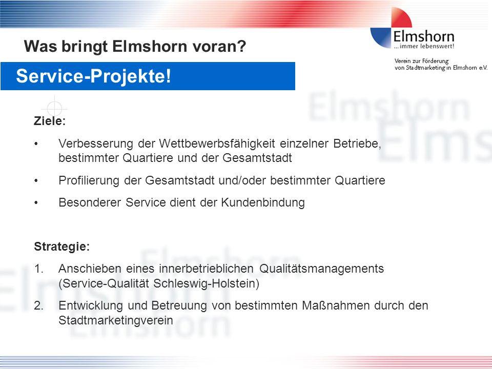 Service-Projekte! Was bringt Elmshorn voran Ziele: