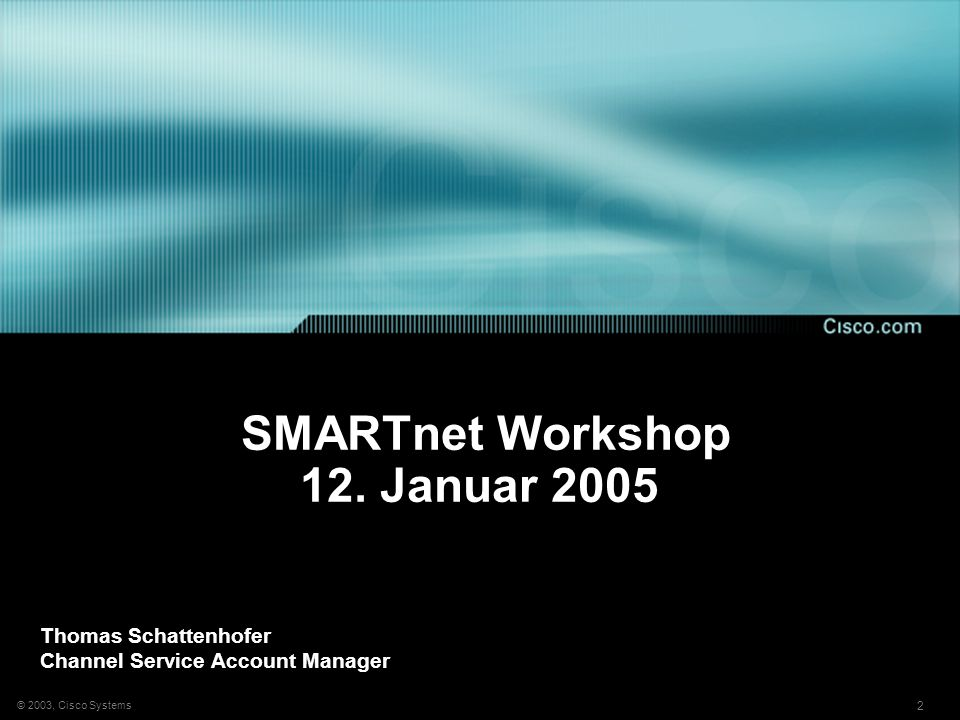SMARTnet Workshop 12. Januar 2005