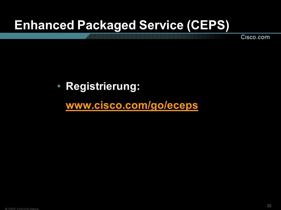 Enhanced Packaged Service (CEPS)