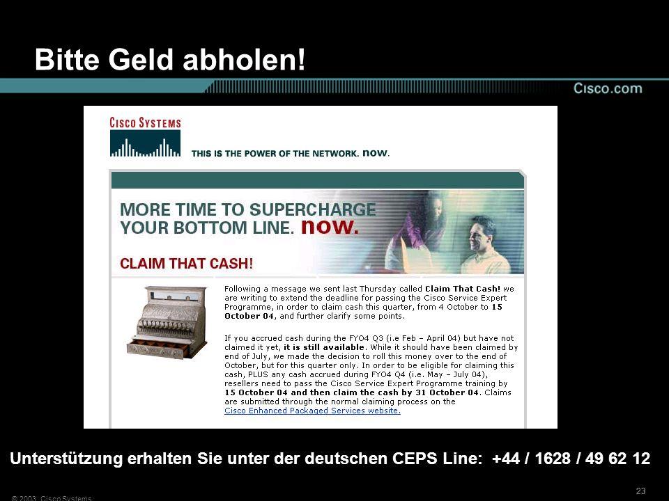 Bitte Geld abholen!Unterstützung erhalten Sie unter der deutschen CEPS Line: +44 / 1628 / 49 62 12.