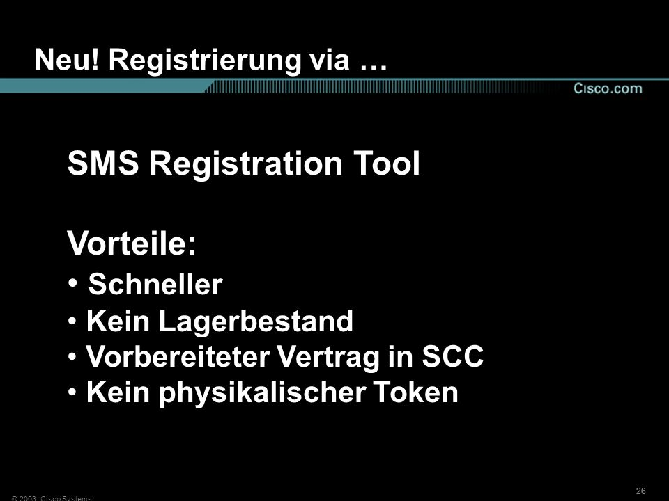 Neu! Registrierung via …
