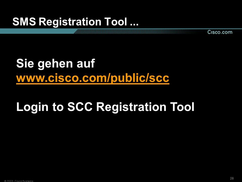 Sie gehen auf www.cisco.com/public/scc
