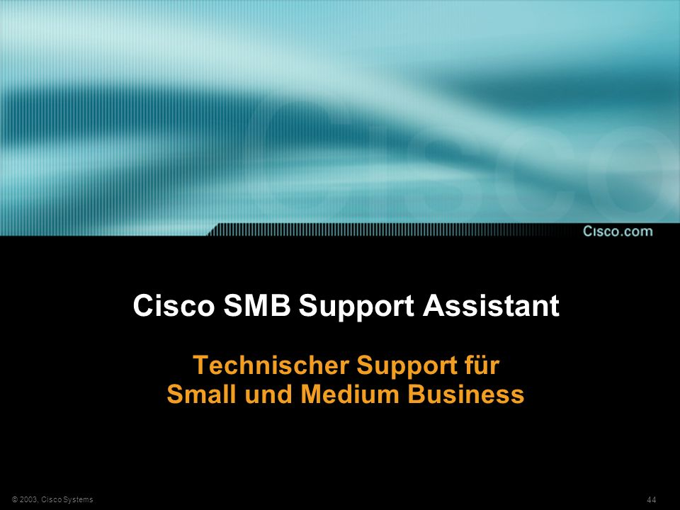 Cisco SMB Support Assistant Technischer Support für Small und Medium Business