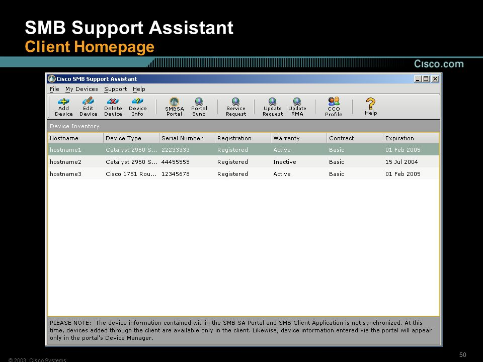 SMB Support Assistant Client Homepage