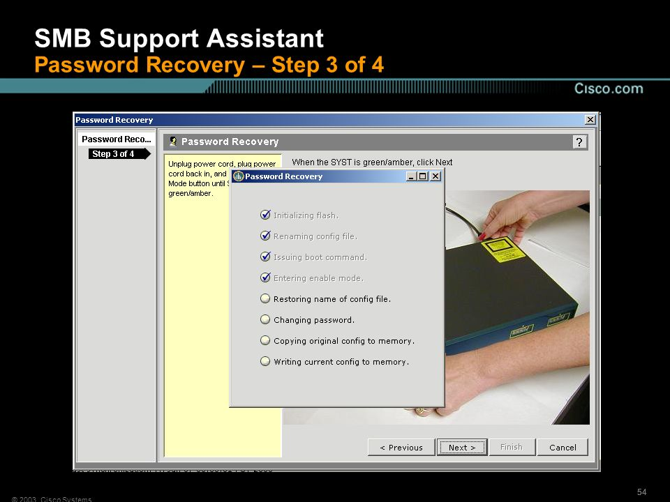 SMB Support Assistant Password Recovery – Step 3 of 4