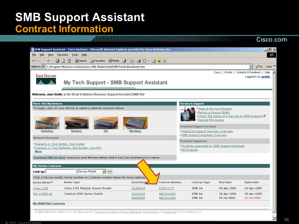 SMB Support Assistant Contract Information
