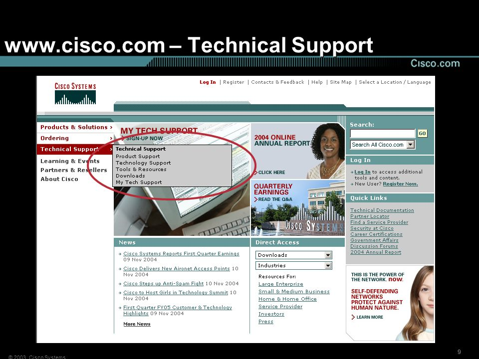 www.cisco.com – Technical Support