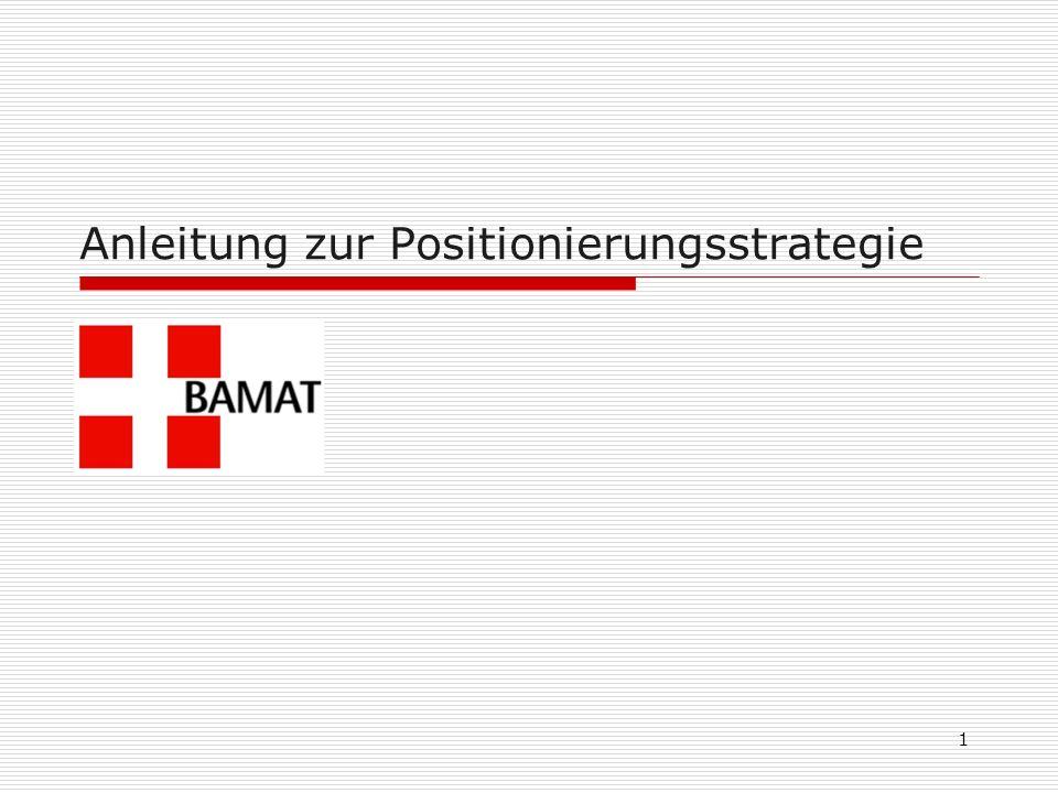 Anleitung zur Positionierungsstrategie