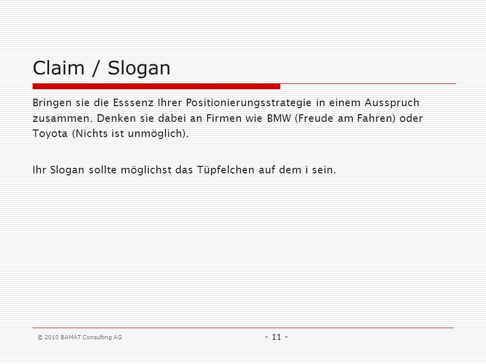 Claim / Slogan