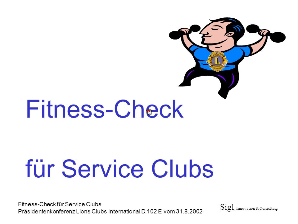 Fitness-Check für Service Clubs