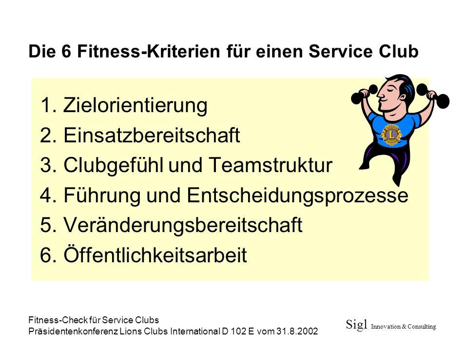 Die 6 Fitness-Kriterien für einen Service Club