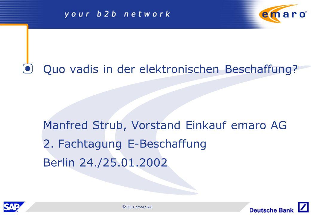 Quo vadis in der elektronischen Beschaffung