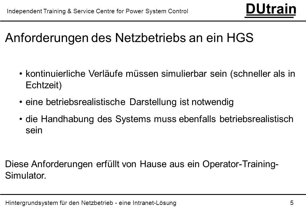 Anforderungen des Netzbetriebs an ein HGS