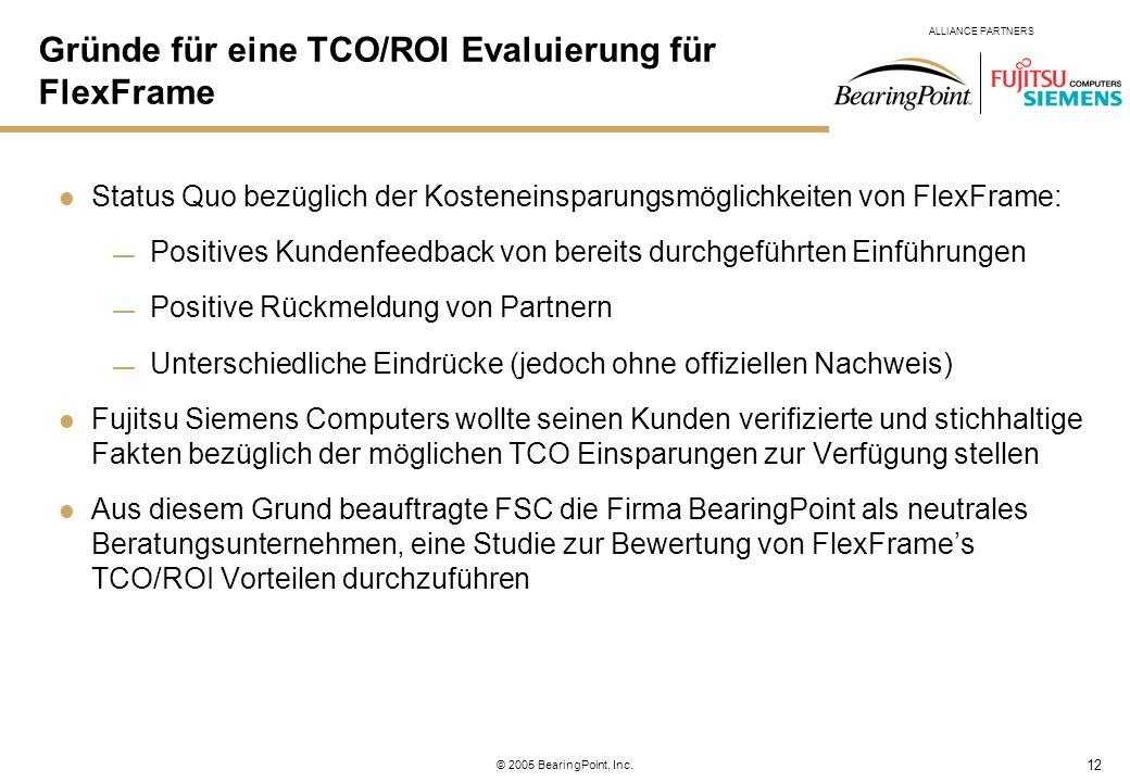 Gründe für eine TCO/ROI Evaluierung für FlexFrame